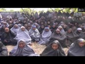 image from the Boko Haram video obtained by AFP purportedly showing the kidnapped school girls